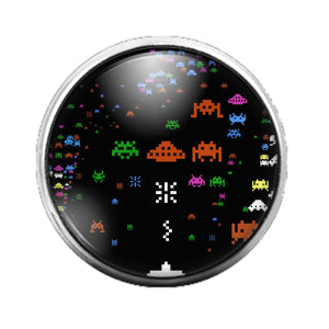 Space Invaders - 18MM Glass Dome Candy Snap Charm GD0657