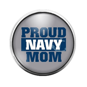 Navy Mom - 18MM Glass Dome Candy Snap Charm GD0655