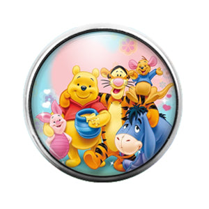 Winnie the Pooh - 18MM Glass Dome Candy Snap Charm GD0662