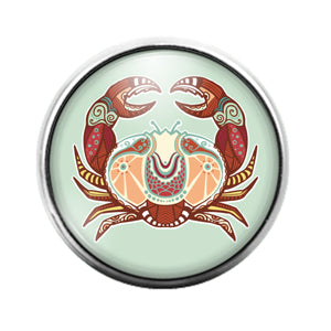 Astrology Signs - 18MM Glass Dome Candy Snap Charm GD0865