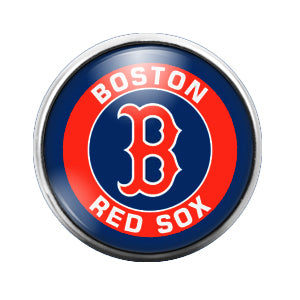 Boston Red Sox - 18MM Glass Dome Candy Snap Charm GD0412