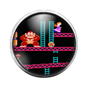 Donkey Kong - 18MM Glass Dome Candy Snap Charm GD0658