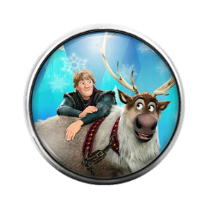 Frozen - 18MM Glass Dome Candy Snap Charm GD1266
