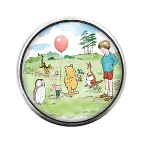 Winnie the Pooh - 18MM Glass Dome Candy Snap Charm GD0663