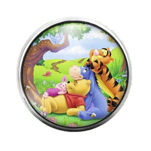 Winnie the Pooh - 18MM Glass Dome Candy Snap Charm GD0727