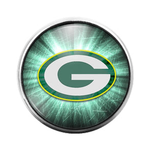 Green Bay Packers- 18MM Glass Dome Candy Snap Charm GD1200