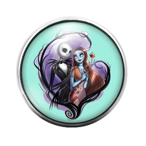 Nightmare Before Christmas - 18MM Glass Dome Candy Snap Charm GD1220
