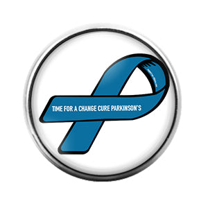 Awareness Ribbon Parkinsons - 18MM Glass Dome Candy Snap Charm GD0623