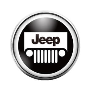 Jeep - 18MM Glass Dome Candy Snap Charm GD0650