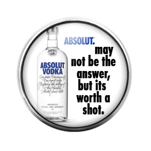 Absolut Vodka - 18MM Glass Dome Candy Snap Charm GD0700