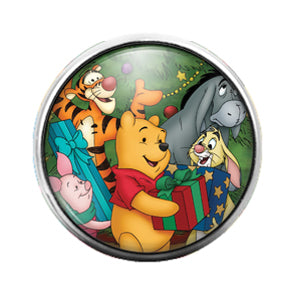 Winnie the Pooh - 18MM Glass Dome Candy Snap Charm GD0664