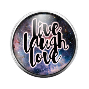 Live Laugh Love - 18MM Glass Dome Candy Snap Charm GD0586