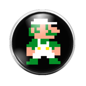 Luigi - 18MM Glass Dome Candy Snap Charm GD0659