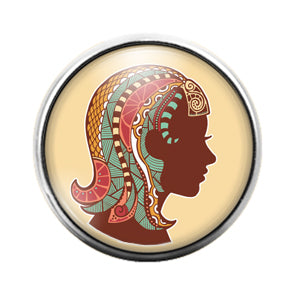 Astrology Signs - 18MM Glass Dome Candy Snap Charm GD0867