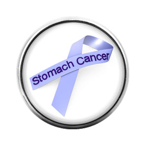 Awareness Ribbon Stomach Cancer - 18MM Glass Dome Candy Snap Charm GD0625