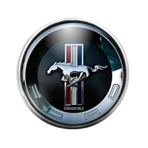 Mustang Car- 18MM Glass Dome Candy Snap Charm GD1007