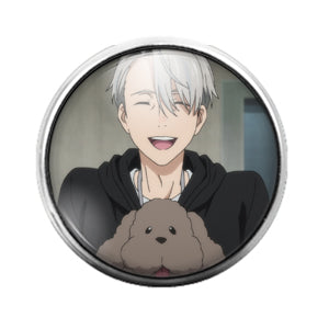 Anime - 18MM Glass Dome Candy Snap Charm GD0463