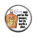 Crown Royal - 18MM Glass Dome Candy Snap Charm GD0701
