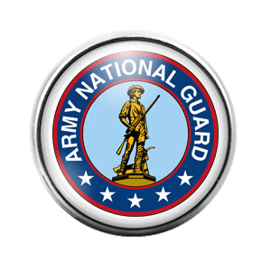 Army National Guard- 18MM Glass Dome Candy Snap Charm GD1209