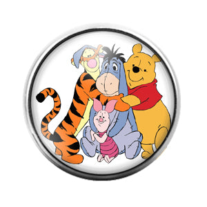 Winnie the Pooh - 18MM Glass Dome Candy Snap Charm GD0729
