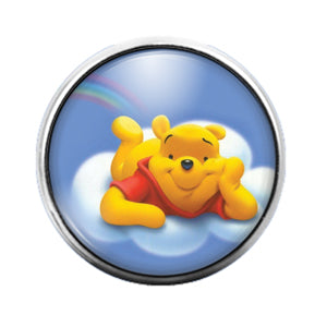 Winnie the Pooh - 18MM Glass Dome Candy Snap Charm GD0666