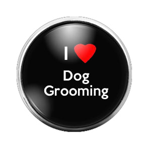 Dog Grooming - 18MM Glass Dome Candy Snap Charm GD0589