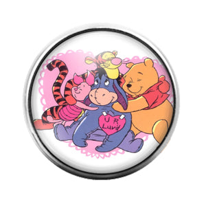 Winnie the Pooh - 18MM Glass Dome Candy Snap Charm GD0730
