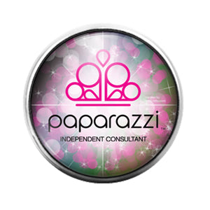 Paparazzi - 18MM Glass Dome Candy Snap Charm GD1433