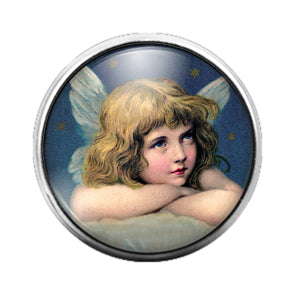 Angel - 18MM Glass Dome Candy Snap Charm GD0607