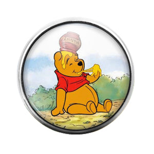 Winnie the Pooh - 18MM Glass Dome Candy Snap Charm GD0731