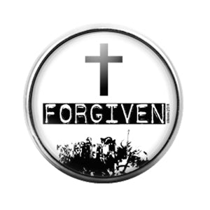 Cross Forgiven - 18MM Glass Dome Candy Snap Charm GD1279