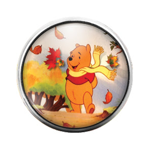 Winnie the Pooh - 18MM Glass Dome Candy Snap Charm GD0667