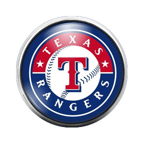 Texas Rangers - 18MM Glass Dome Candy Snap Charm GD1453