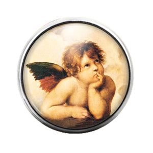 Angel - 18MM Glass Dome Candy Snap Charm GD0608