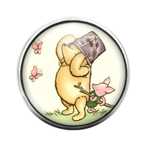 Winnie the Pooh - 18MM Glass Dome Candy Snap Charm GD0732