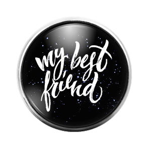 Best Friends - 18MM Glass Dome Candy Snap Charm GD1438