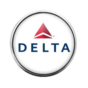Delta Airlines- 18MM Glass Dome Candy Snap Charm GD1543