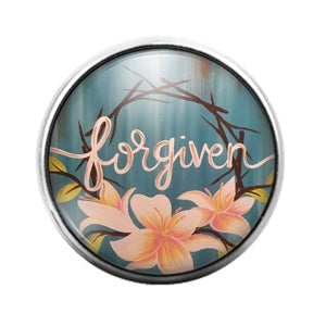 Forgiven - 18MM Glass Dome Candy Snap Charm GD1282