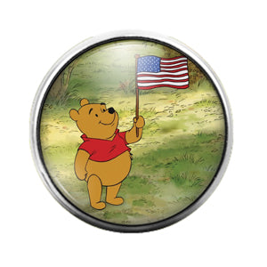 Winnie the Pooh - 18MM Glass Dome Candy Snap Charm GD0668