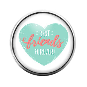 Best Friends - 18MM Glass Dome Candy Snap Charm GD1439