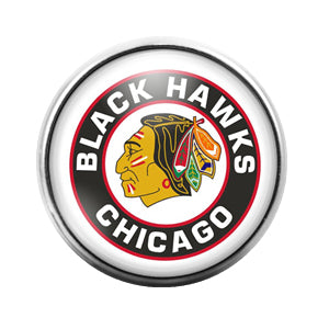 Chicago Black Hawks- 18MM Glass Dome Candy Snap Charm GD0406