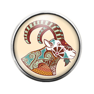 Astrology Signs - 18MM Glass Dome Candy Snap Charm GD0871