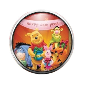 Winnie the Pooh - 18MM Glass Dome Candy Snap Charm GD0669
