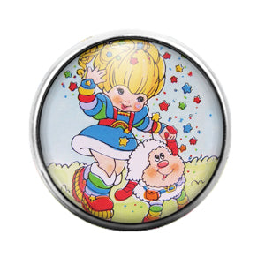 Rainbow Brite - 18MM Glass Dome Candy Snap Charm GD0735