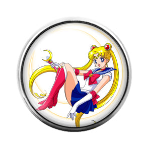 Sailor Moon Anime - 18MM Glass Dome Candy Snap Charm GD0467