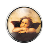 Angel - 18MM Glass Dome Candy Snap Charm GD0609