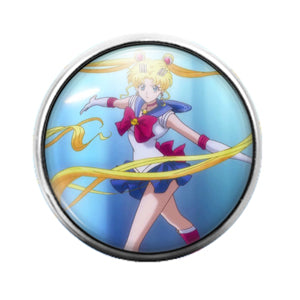 Sailor Moon Anime - 18MM Glass Dome Candy Snap Charm GD0468