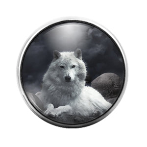 Wolf - 18MM Glass Dome Candy Snap Charm GD1429