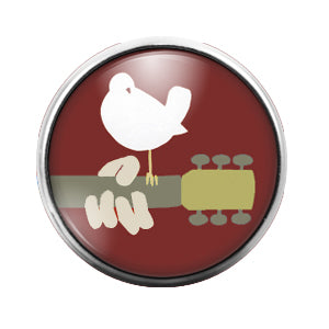 Woodstock - 18MM Glass Dome Candy Snap Charm GD1372