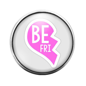 Best Friends - 18MM Glass Dome Candy Snap Charm GD1440
